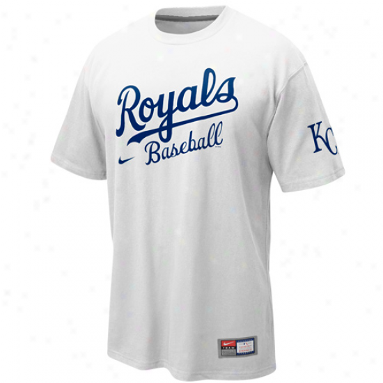Nike Kansas City Royals Practice T-shirt - White