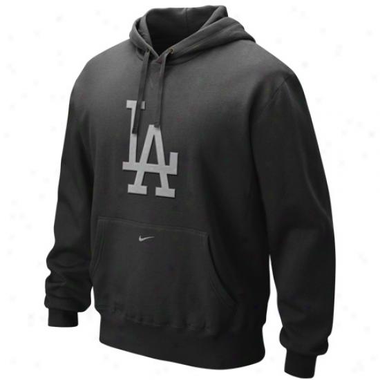 Nike L .a. Dodgers Black Seasonal Pullover Hoody Swatshirt
