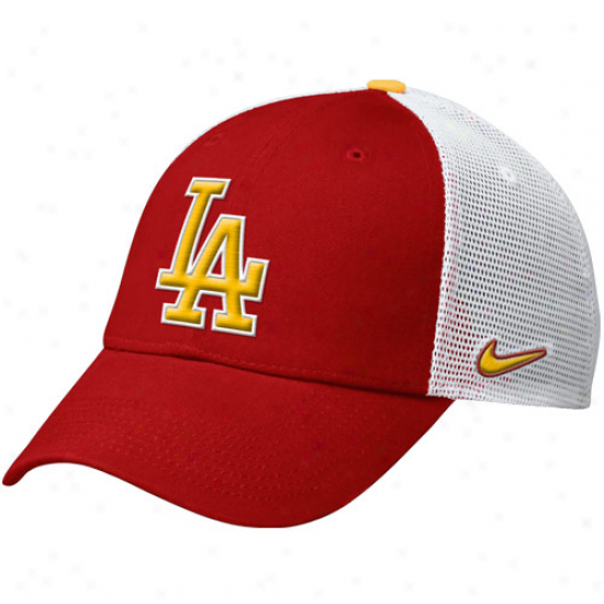 Nike L.a. Dodgers Caxtus League 2012 Spring Training Hat - Red
