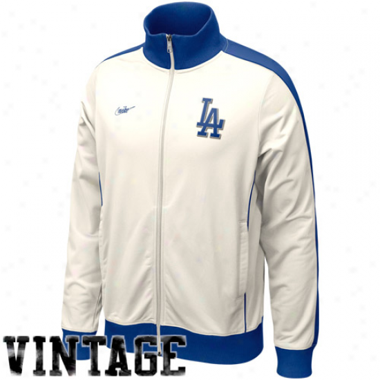 Nike L.a. Dodgers Natural Cooperstown Full Zip Jacket