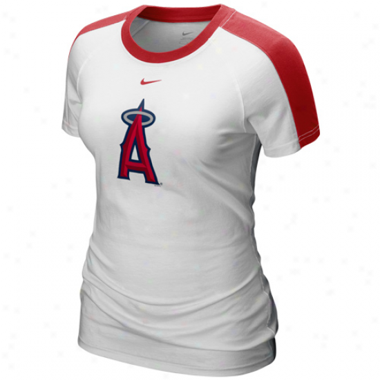 Nike oLs Angeles Angels Of Anaheim Ladies White 2011 Centerfield T-shirt