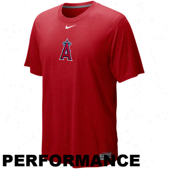 Nike Los Angeles Angels Of Anaheim Red Dri-fit Logo Legend Performance T-shirt