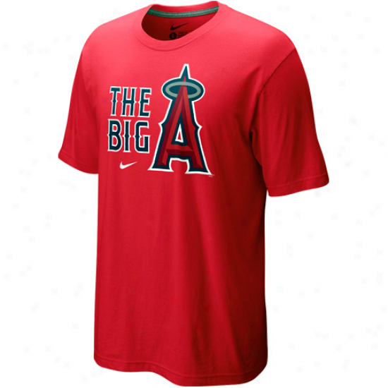 Nike Los Angeles Angels Of Anaheim Red Local T-shirt-