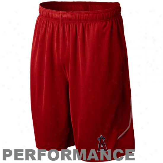 Nike Los Angeles Angels Of Anaheim Red Mlb Authentic Collection Performance Training Shorts