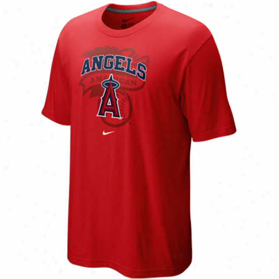 Nike Los Angeles Angels Of Anaheim Red Team Arch T-shirt