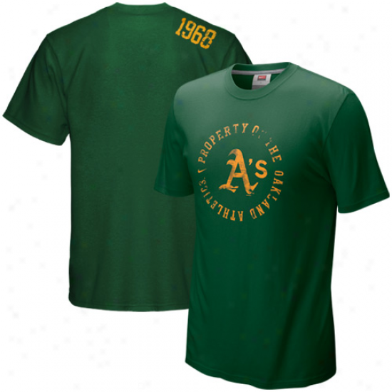 Nike Oakland Athletics Green Around The Horn T-shirt
