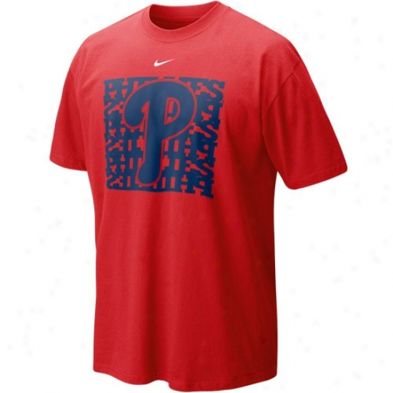 Nike Philadelphia Phillies Red Undercover Logo T-shirt
