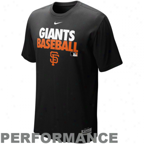 Nike San Francisco Giants Grapphic Dri-fit Performance T-shirt - Black