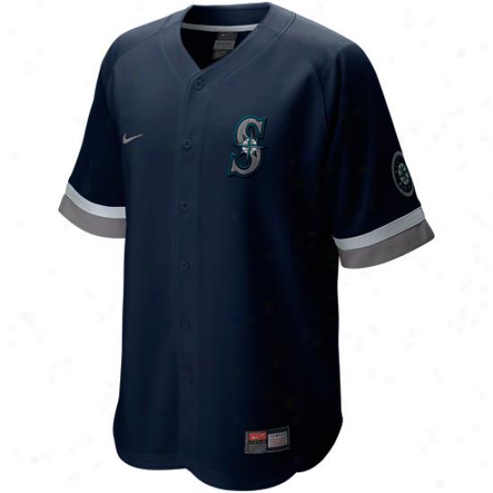 Nike Seattle Mariners Baseball Fan Jersey - Navy Blue