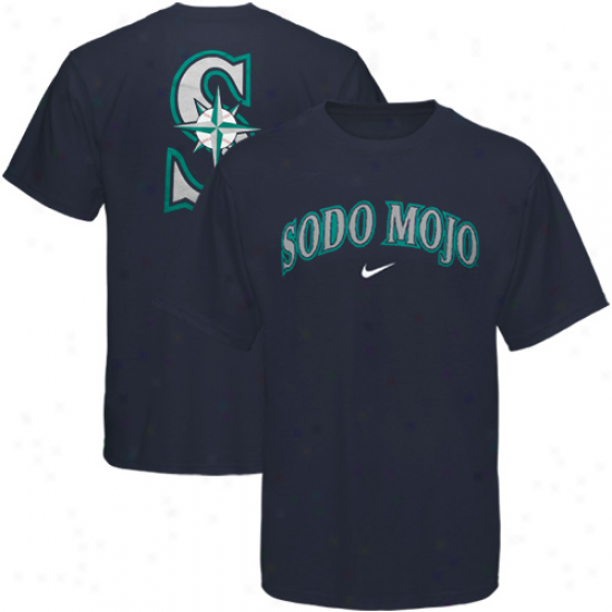 Nike Seattle Mariners Navy Blue Local T-shirt-