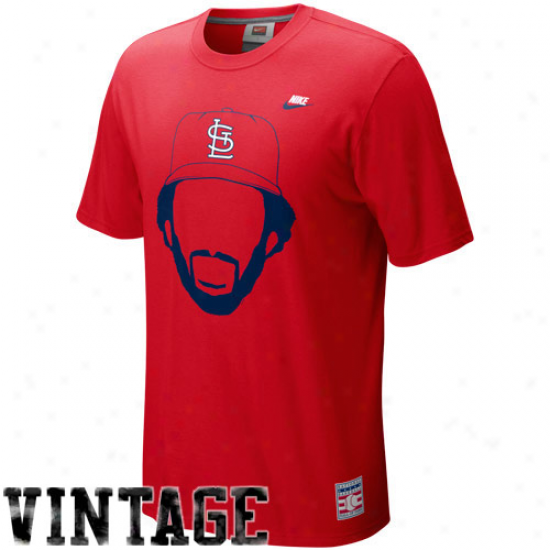 Nike St. Lpuis Cardinals Ozzie Smith Red Hair-itage T-shirt