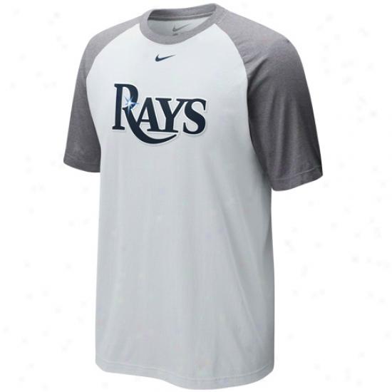 Nike Tampa Bay Rays Cup Of Coffee Raglan T-shirt - White-ash