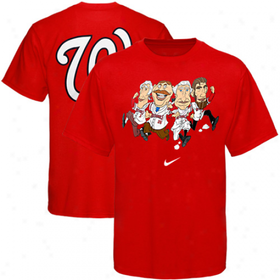 Nike Washington Nationals Red Local T-shirt-