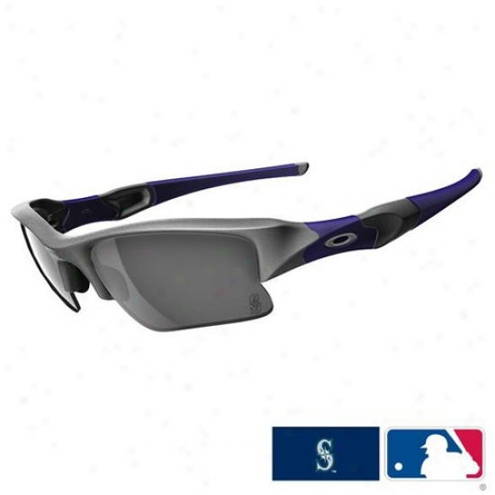 Oakley Seattle Mariners Royal Blue-gray Flak Jacket Xlj Sunglasses