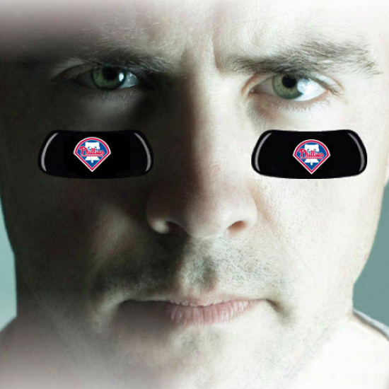 Philadelphia Phillies 2-pair Team Logo Eye Black Strrips