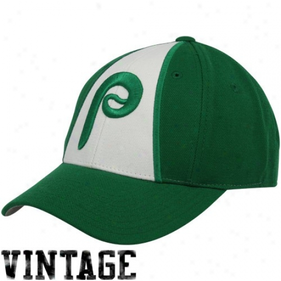 Philadelphia Phillies Green-white 1981 Throwback Cooperstown Fitted Hat