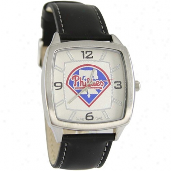 Philadelphia Phillies Retro Watch W/ Leather Band
