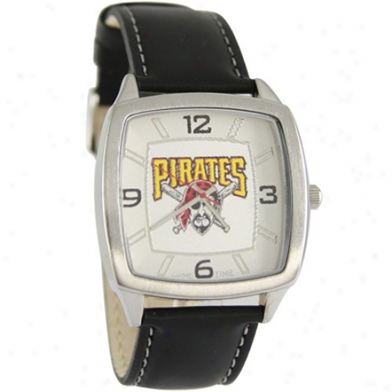 Pittsburgh Pirates Retro Watch W/ Leather Band