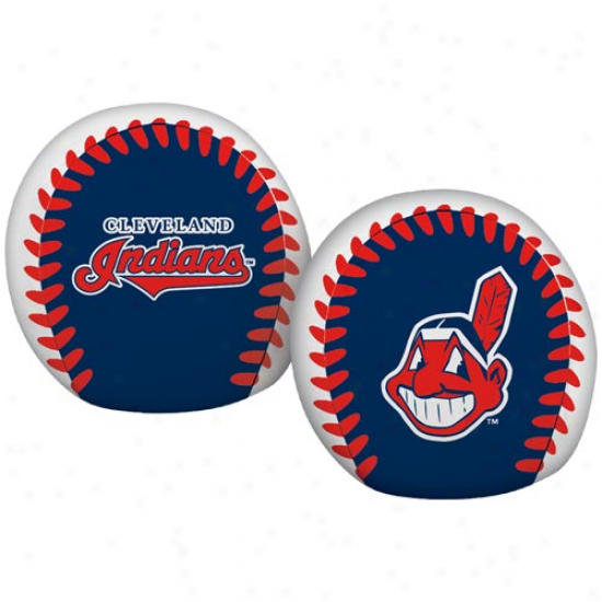 Rawlings Cleveland Indians 4'' Quick Toss Softee Baseball