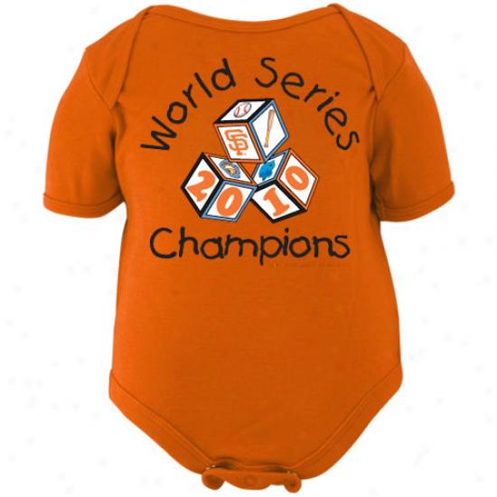 San Francisco Giants Infant Orange 2010 World Series Champions Baby Blocks Creeper