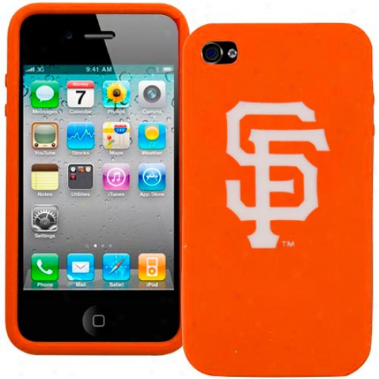 San Francisco Giants Orange Silicone Iphone 4 Cover
