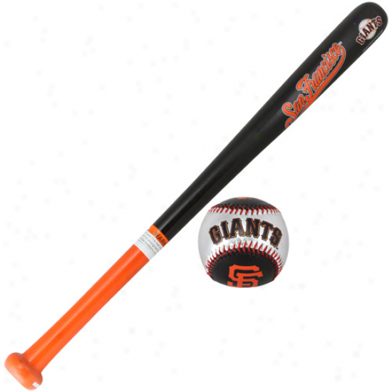 San Francisco Giants Wood Bat & Soft Strike Baseball Set
