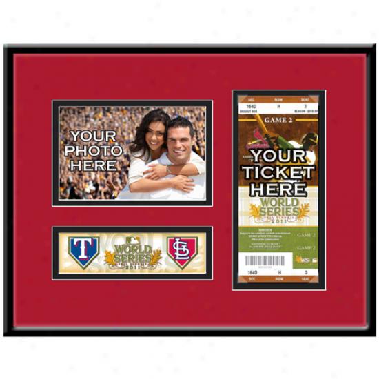 St. Louis Cardinals 14'' X 11'' 2011 World Series Ticket Frame