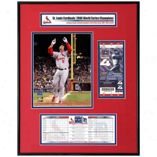 St Louis Cardinals 2006 World Series Champions Albert Pujols Ticket Frame Jr