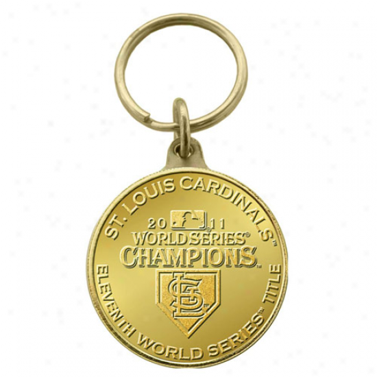 St. Louis Cardinals 2011 World Series Champions Brown Coin Keychain