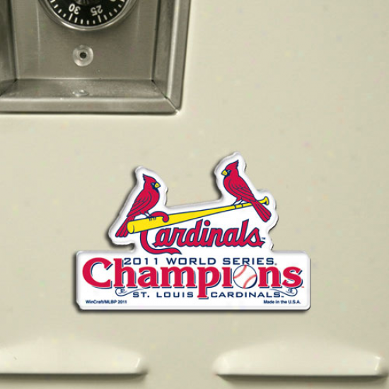 St. Louis Cardinals 2011 Natural order Seriies Champions Acrylic Hd Magnet
