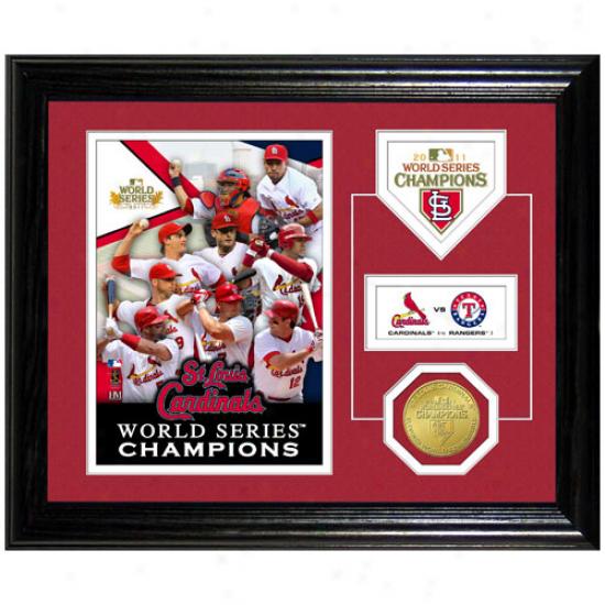 St. Louis Cardinals 2011 World Series Champions Desktop Coin Photomimt