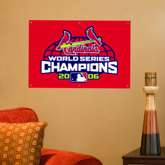 St. Loius Cardinals 3' X 2' Pastoral pipe 2006 World Series Championshio Applique Banner