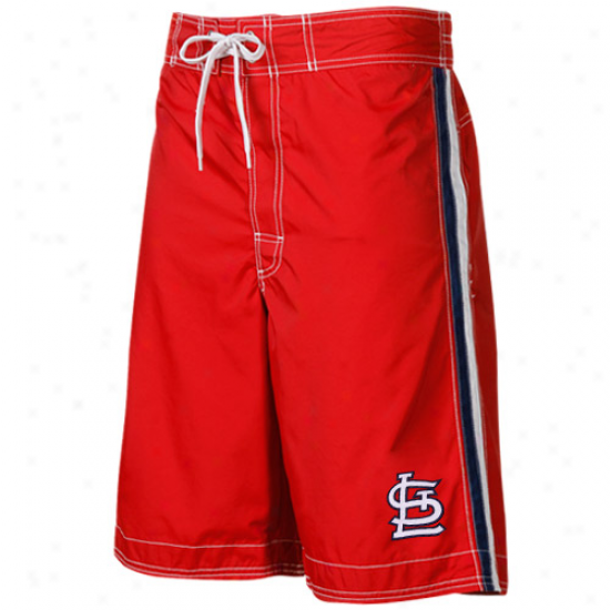 St. Louis Cardinals Cardinal Color Block Team Logo Boardshorts