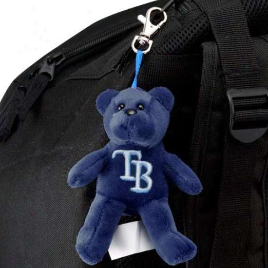 Tampa Bay Rays Nvy Blue Plush Bear Keychain