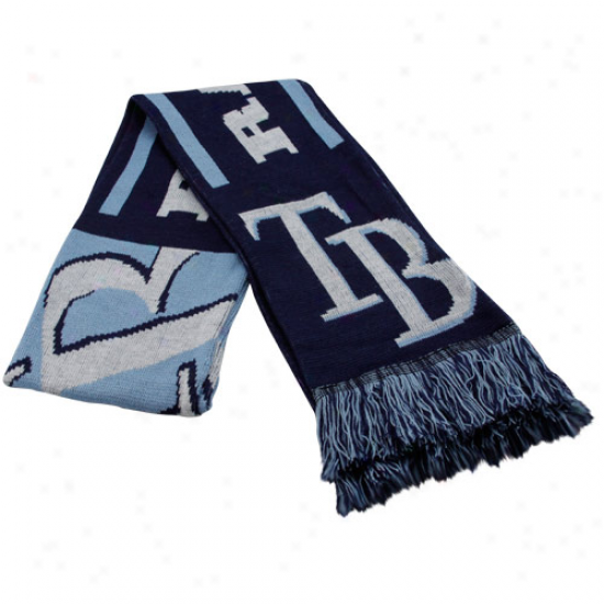 Tampa Bay Rays Navy Blue Team Fringed Knit Scarf