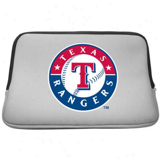 Texas Rangers 15.5'' Gray Neoprene Laptop Sleeve
