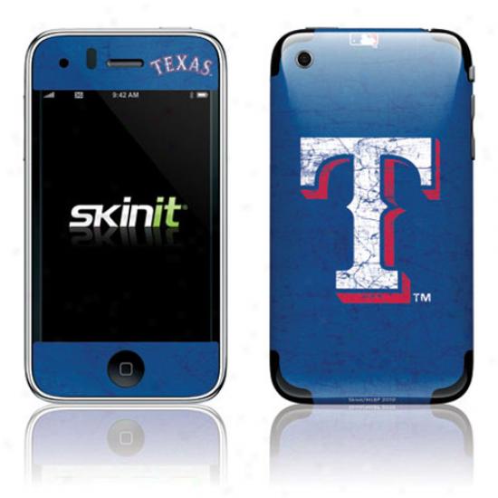 Texas Rangers Royal Blue Iphone 3g/3gs Distressed Skin