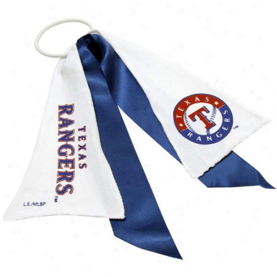Texas Rangers Streamer Ponytail Holder