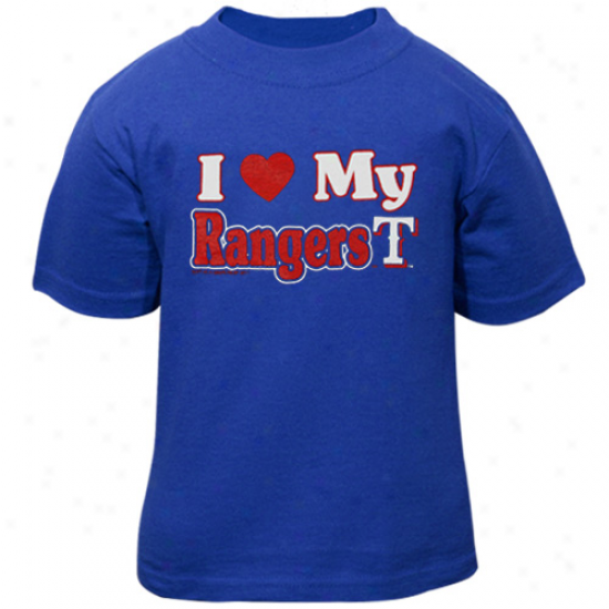 Texas Ranger Toddler I Heart My Team T-shirt - Royal Blue