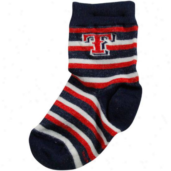 Texas Rangers Toddler Sport Stroke  Socks - Navy Blue/red