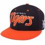 '47 Brand Detroit Tigers Navy Blue-orange Retro Script Snapback Adjustable Hat