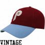 '47 Brand Philadelphia Phillies Maroon-light Blue Cooperstown Br0oksby Flex Fit Hat