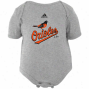 Adidas Baltimore Orioles Infant Ash Team Logo Creeper