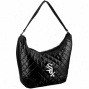 Chicago White Sox Ladies Blzck Quiltsd Hobo Purse
