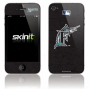Florida Marlins Black Iphone 4 Distressed Skin
