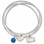 Logo Art Toronto Blue Jays Ladies Spirit Crystal Bangle Bracelet Set