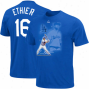 Majestic Andrew Ethier L.a. Dodgers Youth #16 Player Of The Game Name & Numbee T-shi5t - Dodger Blue