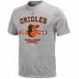 Majestic Baltiimore Orioles Aperture Series T-shirt - Ash