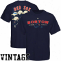 Majestic Boston Red Sox Navy Blue Nostalgia Vintage T-shirt