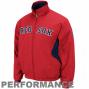 Maiestlc Boston Red Sox Red-navy Blue Therma Base Triple Peak Premier Full Zip Jack3t